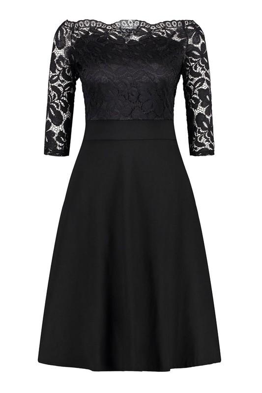 Платье для выпускного вечера малыш платье черный M фото