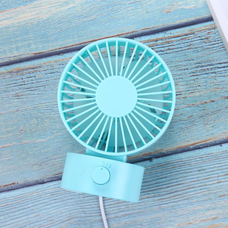 TOMNEW синий Настольный USB-вентилятор Office Mini Fan Silent 2 Speed Desktop Fan с двухсторонним вентилятором