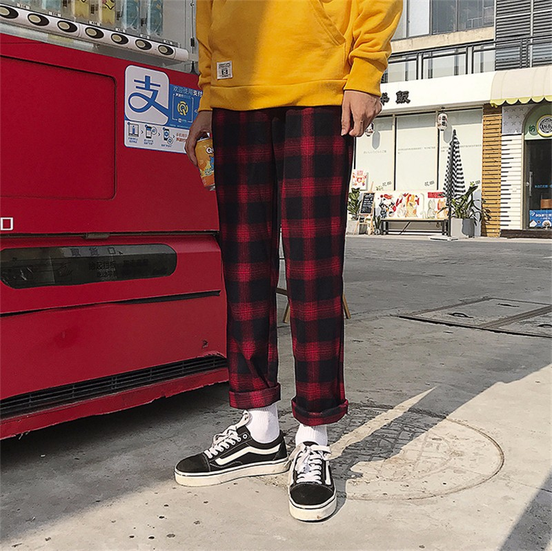 Брюки женские брюки для девочек брюки летние брюки высокие талии брюки SAKAZY красный M фото