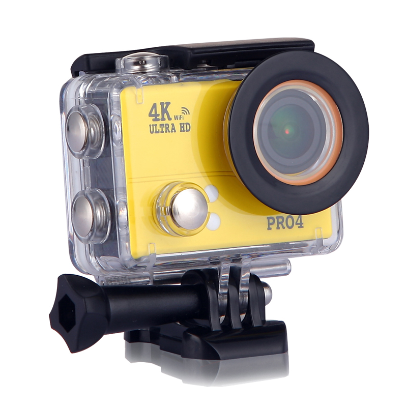 SAYHI желтый action camera 4k 30fps ultra hd 1080p 120fps 20mp sports dv водонепроницаемый wifi водонепроницаемый 170 градусов