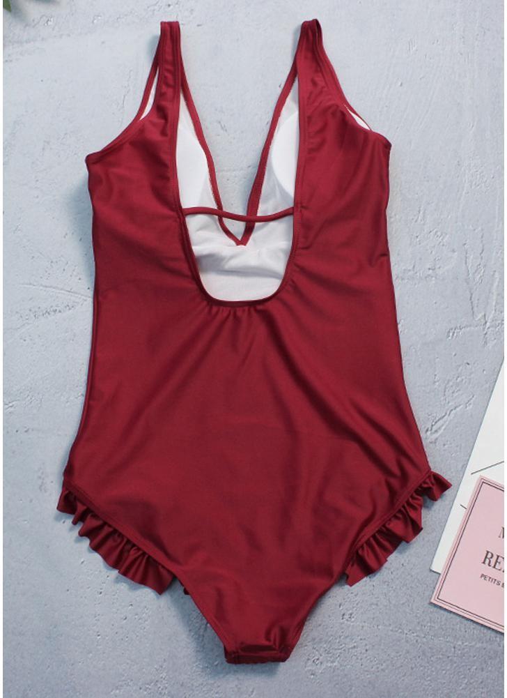 babyonline DRESS 045G S deep v neck swimsuit