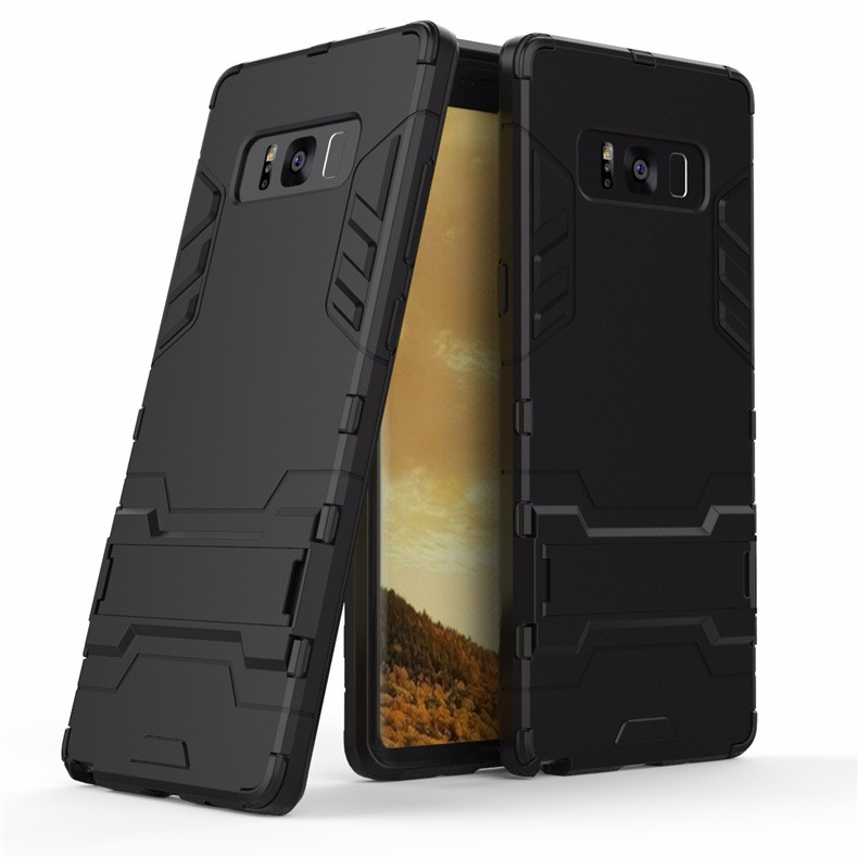 WIERSS черный для Samsung Galaxy Note8 Shockproof Hard Phone Case для Samsung Galaxy Note8 Примечание 8 SM-N950 N9508 N9500