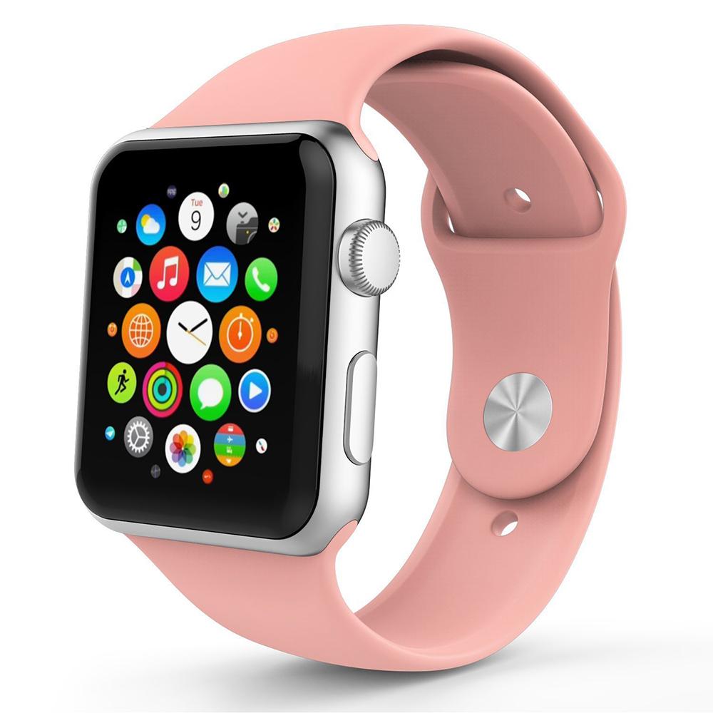 BRG Розоловый цвет умные часы apple watch series 3 38mm grey space with black sport band mqkv2ru a