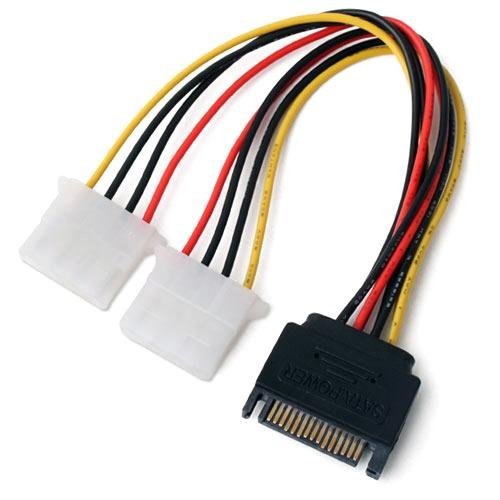 Huayuan 10pcs lot 15 pin sata male to molex ide 4 pin female adapter extension power cable