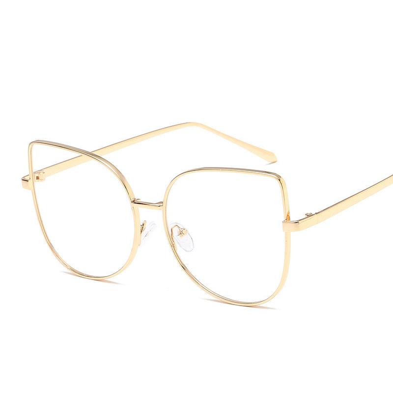 Sisjuly Золото Классические очки 2016 women metal frame sexy cat eye sunglasses coating vintage sun glasses female oculos de grau femininos uv400