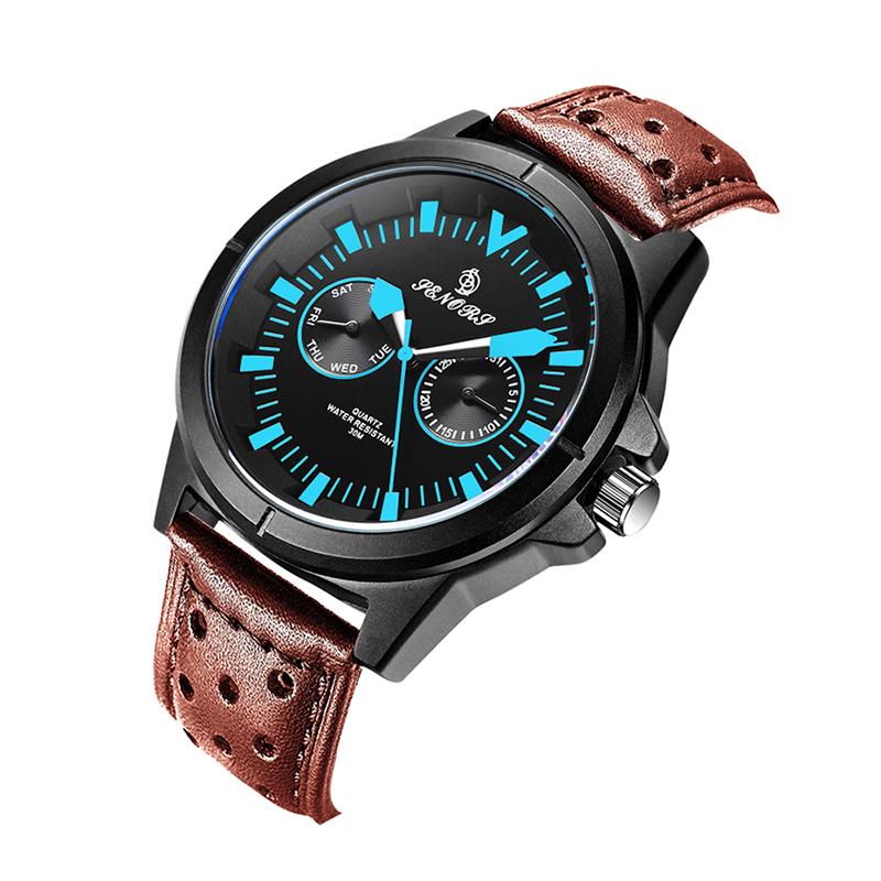 SENORS синий Мужские наручные часы черного пояса shensee ® gofuly 2015 новый 4 стили роскошь моды крокодил лже кожа мужчин аналоговые часы кварцевые часы специально для мужчин