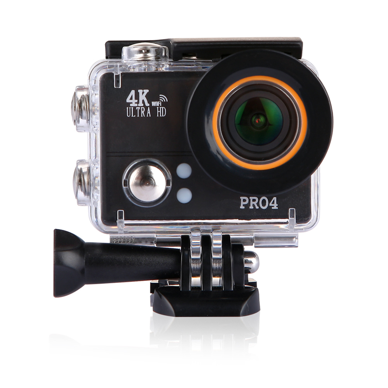 SAYHI черный action camera 4k 30fps ultra hd 1080p 120fps 20mp sports dv водонепроницаемый wifi водонепроницаемый 170 градусов
