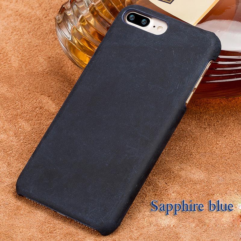 langsidi синий iPhone X чехол из натуральной кожи для iphone x case crazy horse leather back cover для 6 6s 7 8 plus case