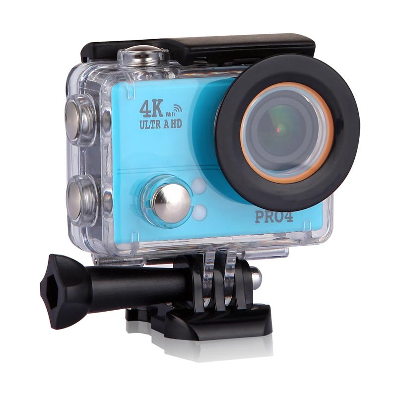 SAYHI синий action camera 4k 30fps ultra hd 1080p 120fps 20mp sports dv водонепроницаемый wifi водонепроницаемый 170 градусов