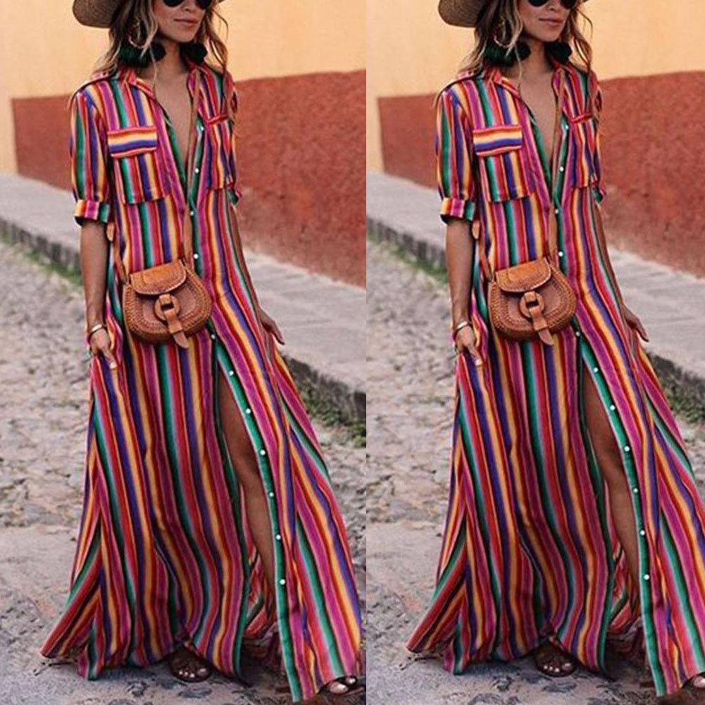 CANIS красный XXL jastie embroidered women maxi dress v neck batwing sleeve loose plus size summer dresses drawstring waist boho beach vestidos