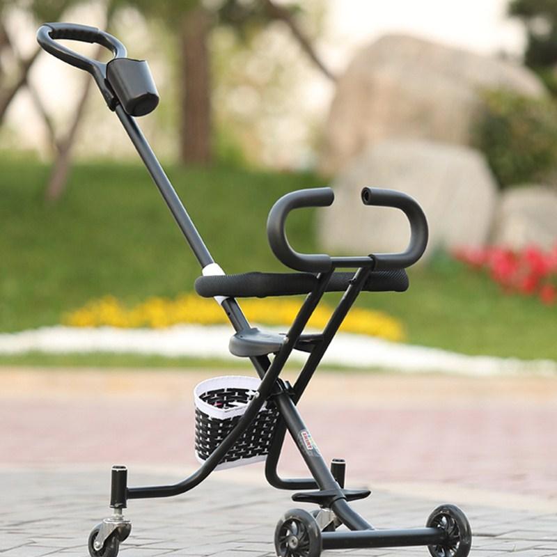 Пять колес Портативная складная детская коляска Красный цвет 2 - 4 года фото