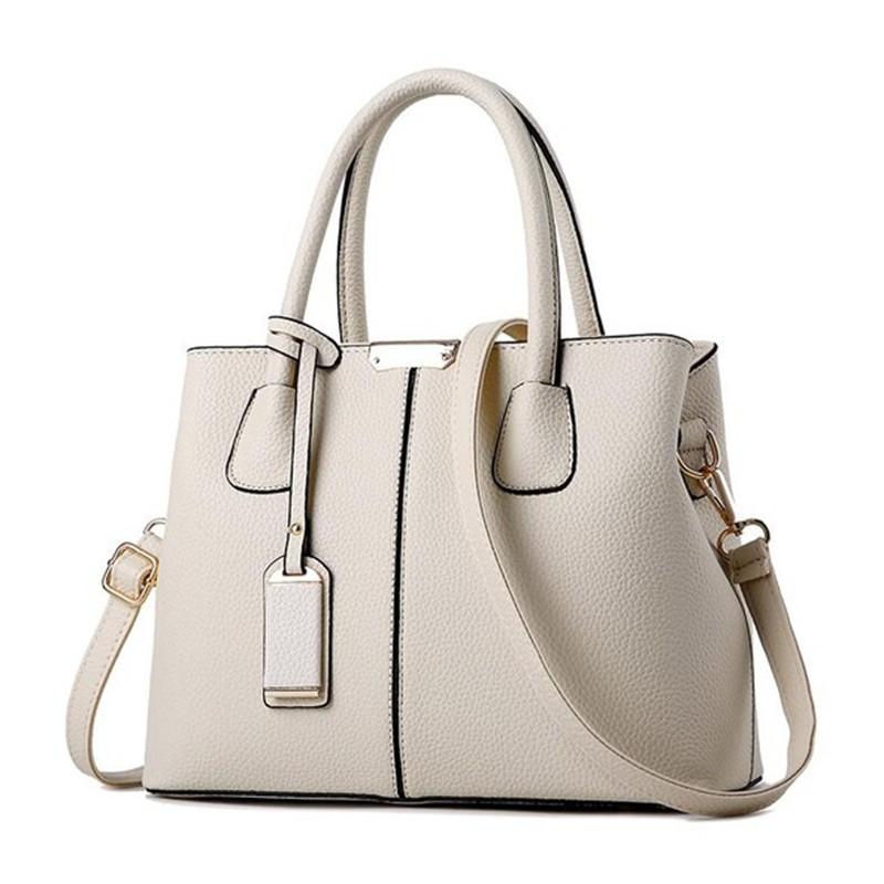 SMOOZA Бежевый средний горячие корейской леди женщины хобо кожа pu посланника плеча сумки totes кошелек