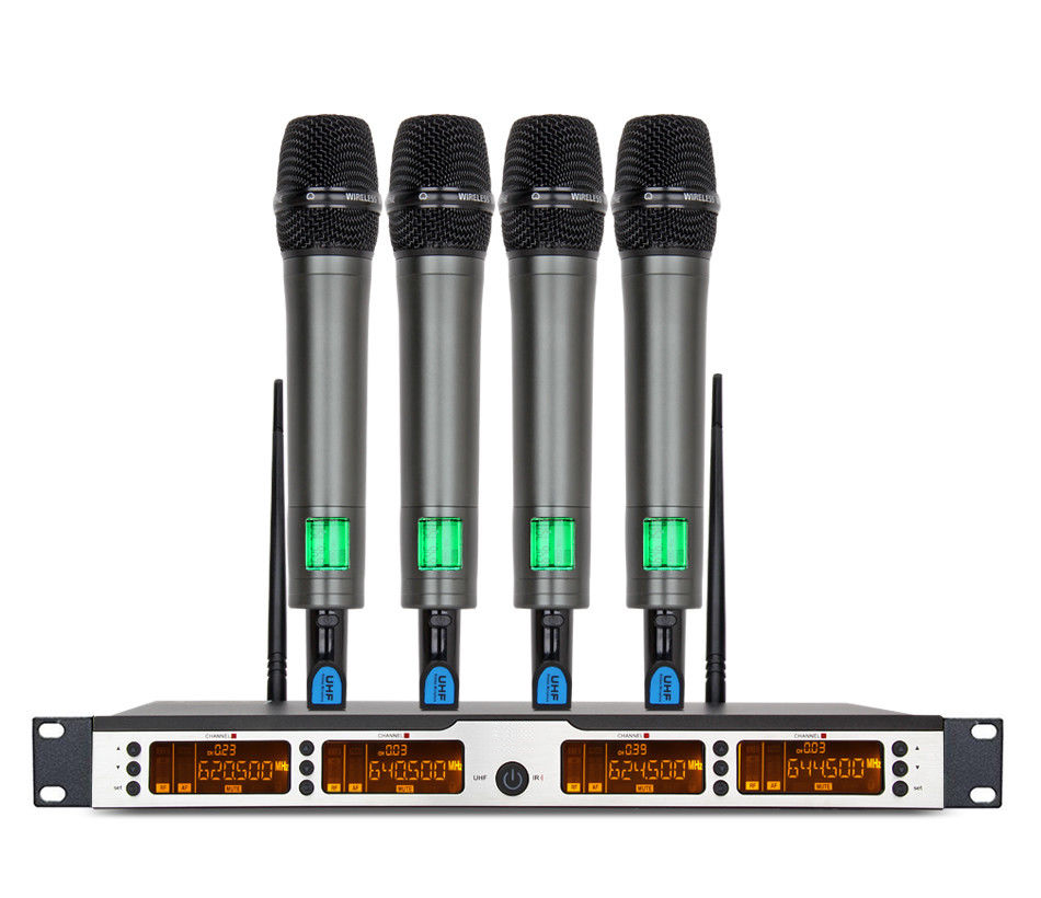 JOYPOOL ur6s professional uhf karaoke wireless microphone system 2 channels cordless handheld mic mike for stage speech ktv 80m distance