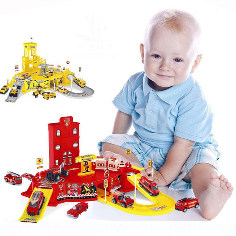 Несколько парковочных мест Toy Park Rail Auto Construction Дети Action Figure Ca in stock transformation mp27 mp 27 mp 30 mp30 ratchet figure 8 in box ko version masterpiece action figure toy