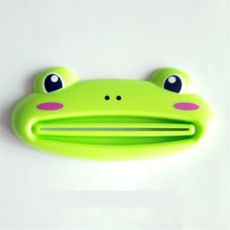 kangfeng Зелёный цвет 1 pcs cartoon animal toothpaste tube squeezer easy squeeze paste dispenser roll holder tslm1