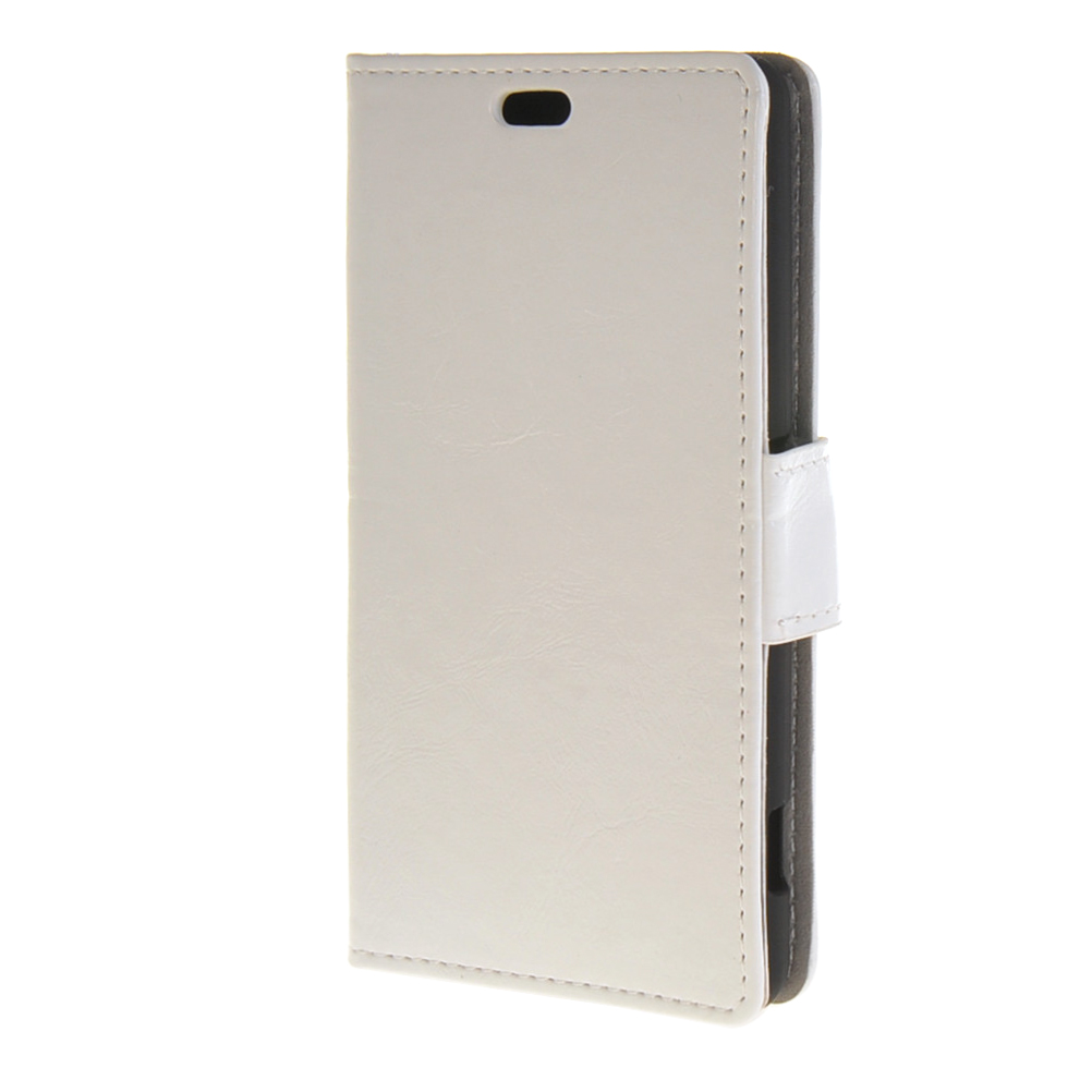 MOONCASE mooncase smooth pu leather flip wallet card slot bracket back чехол для samsung galaxy j1 white