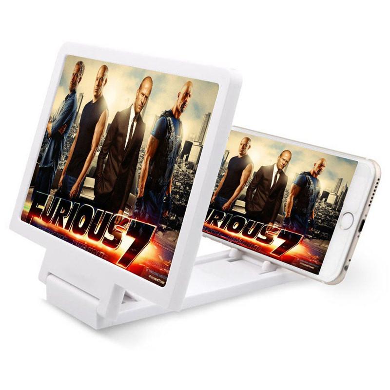 FIRSTSELLER Белый цвет Общепринятый складное 3 кратное зум увеличительное стекло сотовый телефон экран hd усилитель для 3d фильмов