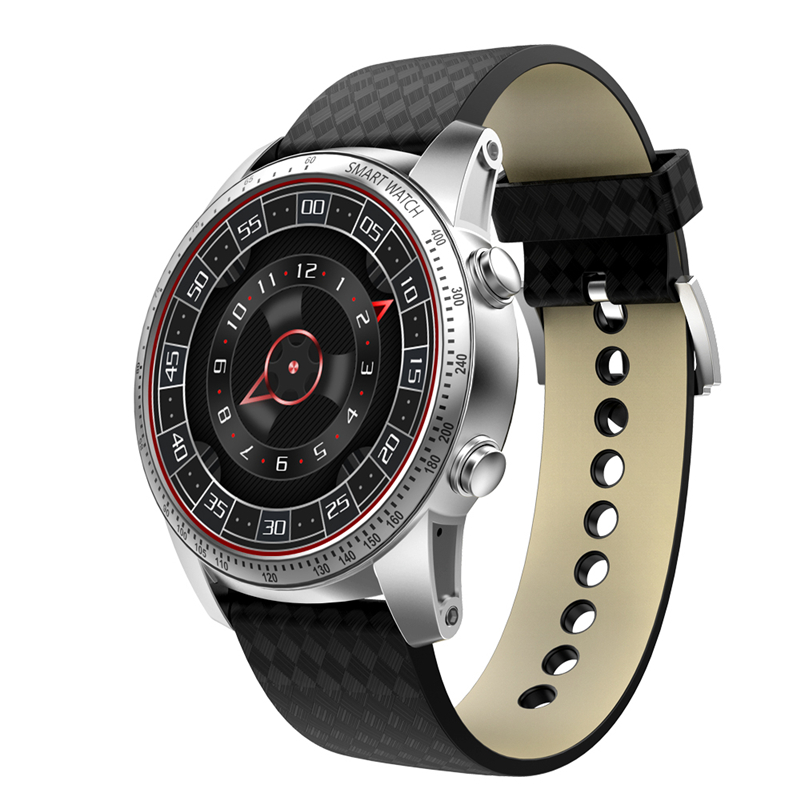 chkj Серебряный 48 мм k1 android 5 1 os smart watch phone mtk6580 512mb 8gb support wifi sim card bluetooth gps smartwatch for ios android os
