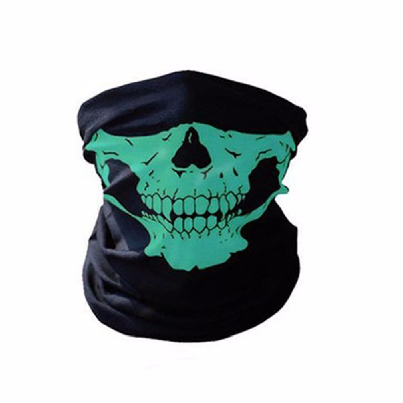 meterk Зеленый защитная маска маска бандана 2017 лето череп оголовье магия бесшовные бандана