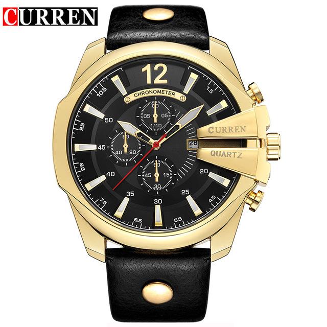 CURREN 01 золотые часы