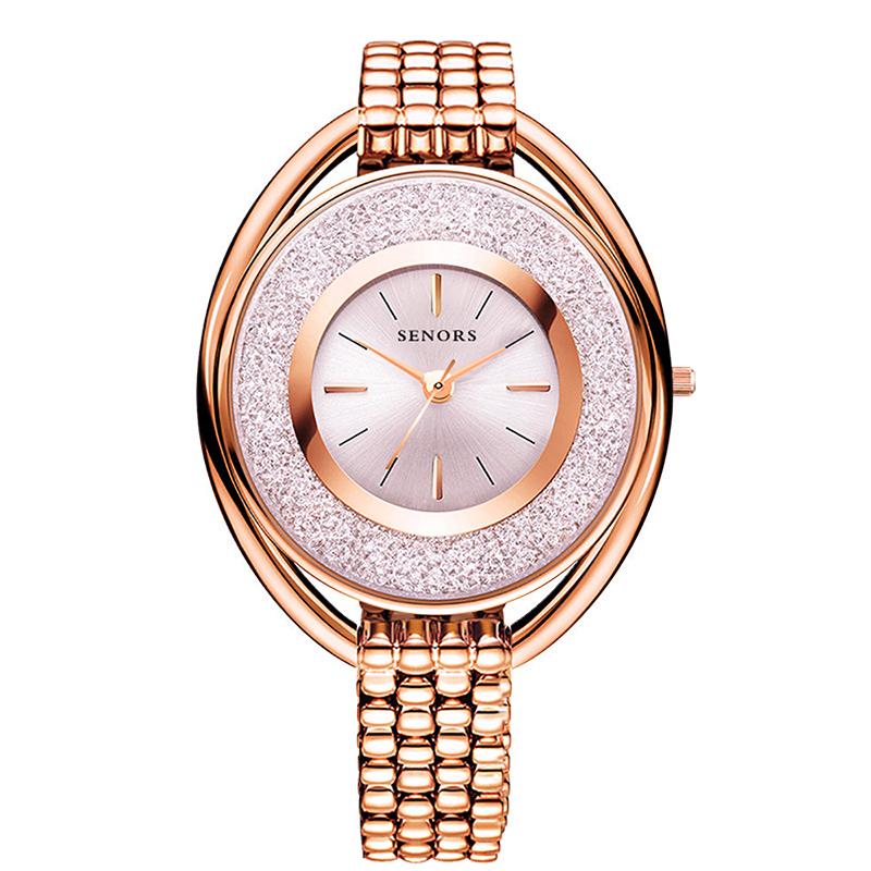 SENORS Роза золотой часы наручные женские mikhail moskvin каприз цвет черный 600 11 4