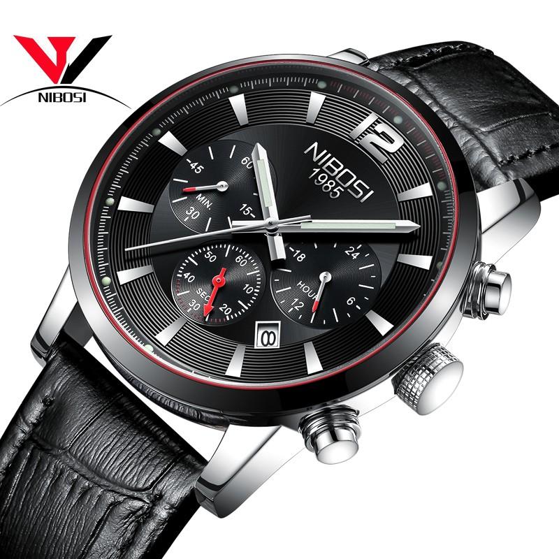 NIBOSI Мужские наручные часы черного пояса shensee ® gofuly 2015 новый 4 стили роскошь моды крокодил лже кожа мужчин аналоговые часы кварцевые часы специально для мужчин