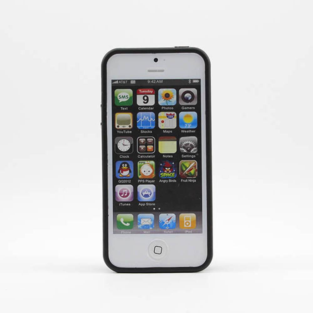 Vanker Черный iPhone 55S mooncase iphone 5 5s дело гибкая мягкий гель тпу силиконовая кожа тонкий прочный чехол для apple iphone 5 5g 5s серый
