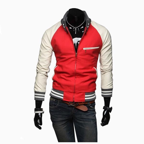 ZOGAA zogaa кожа рукав соединения случайные слим мужской пиджак