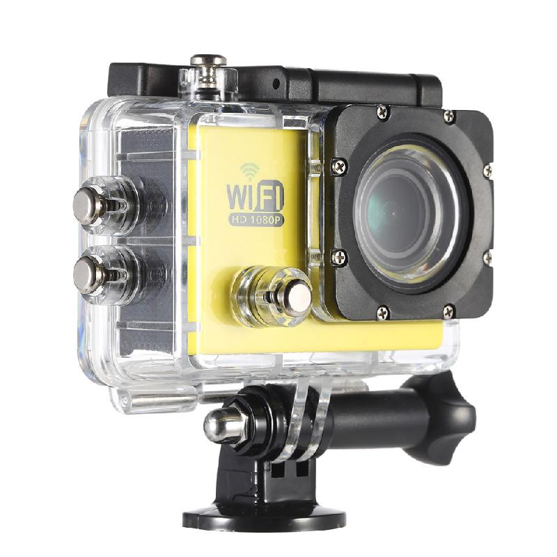 ANDOER желтый action camera 4k 30fps ultra hd 1080p 120fps 20mp sports dv водонепроницаемый wifi водонепроницаемый 170 градусов