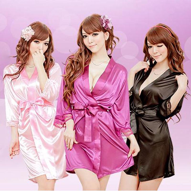 Нижнее белье Платье вечернее нижнее белье Нижнее белье сексуальное Одежды Сатин сексуальное женское белье CANIS Фиолетовый фото