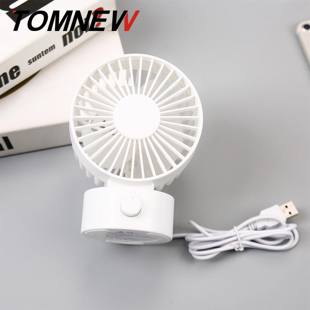 TOMNEW белый Настольный USB-вентилятор Office Mini Fan Silent 2 Speed Desktop Fan с двухсторонним вентилятором
