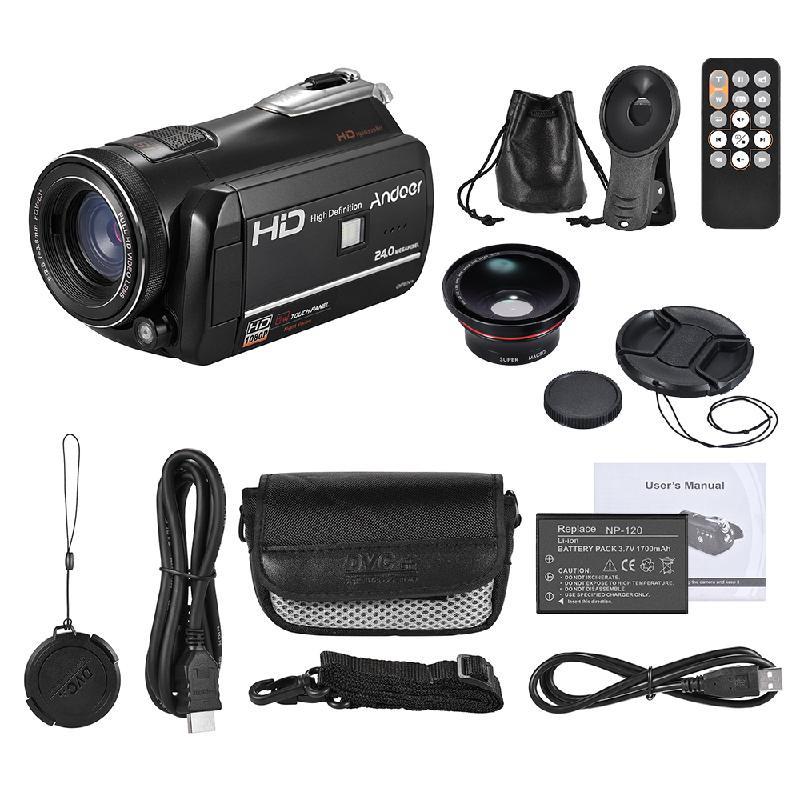 ANDOER черный видеокамера ordro hdv v7 dv