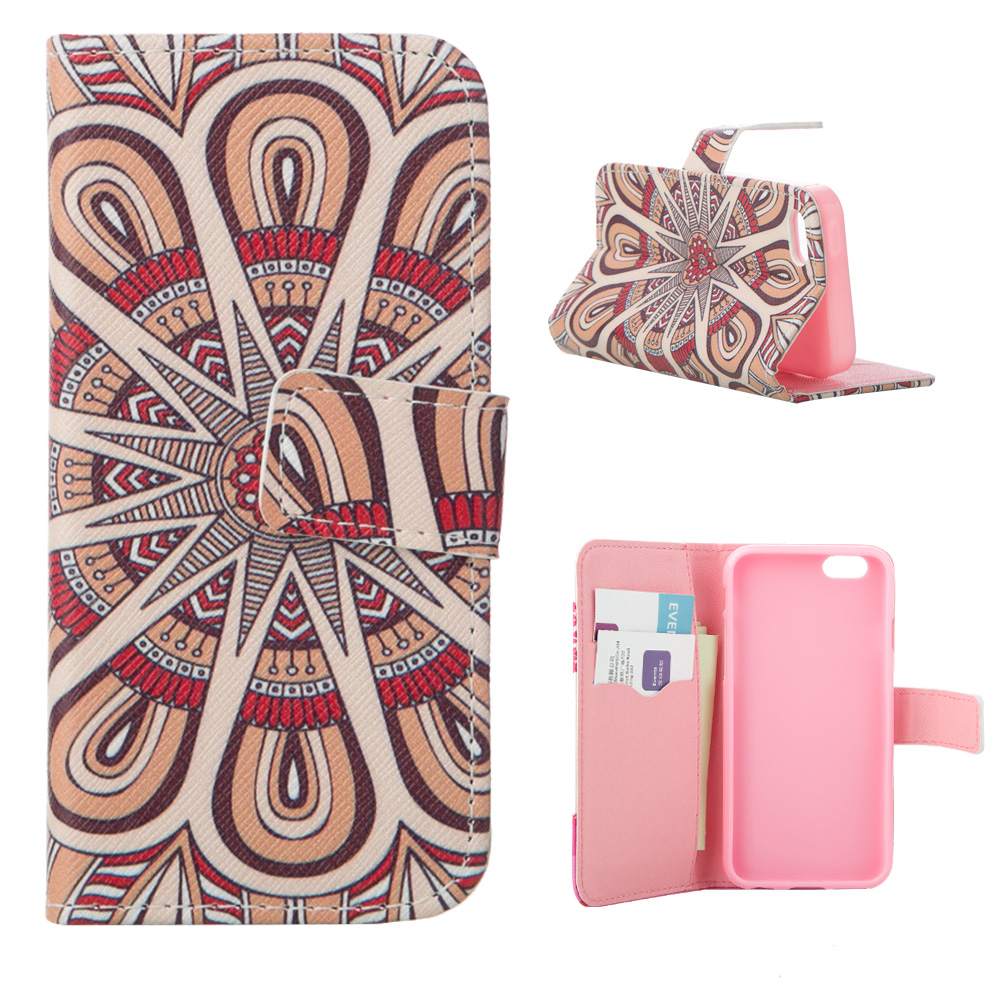 MOONCASE stripe pattern protective flip open pu case w card slot stand for ipad air 2 white multicolor
