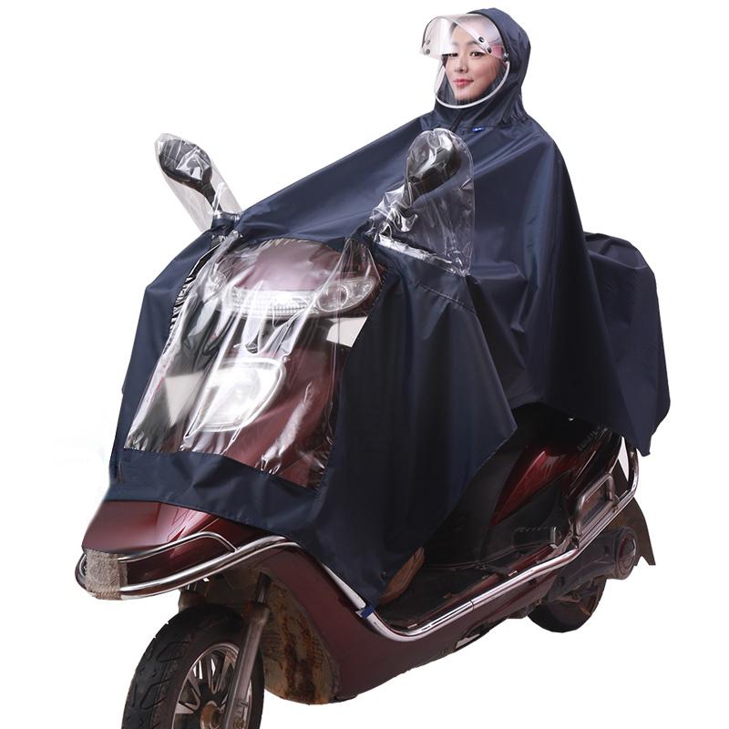 JD Коллекция военно-морской флот kendo открытый верховая езда взрослый велосипед плащ мужской и женский одиночный пончо увеличить утолщение z 1 темно синий 3xl