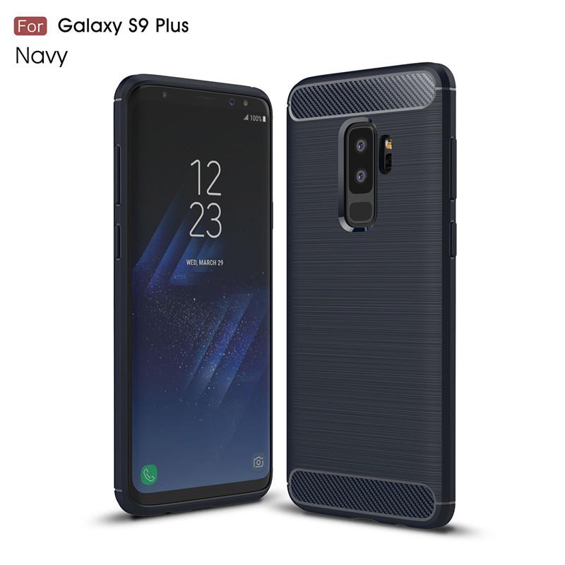 KYKEO Синий цвет Samsung Galaxy S9 Plus Carbon Fiber Phone Case For Samsung Galaxy S9 Plus
