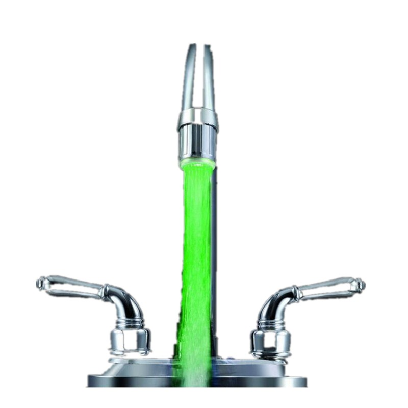 YOUFEN Зелёный цвет Светодиодный водонагреватель Stream Light 7 цветов