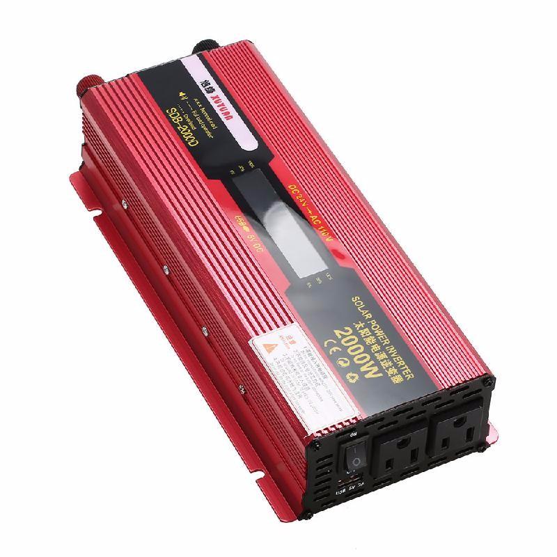 meterk Red dhl fedex free shipping digital display 1500w pure sine wave power inverter converter 12v dc to 220v ac 3000 watt peak