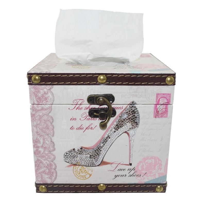 TOSJC Розовый Северная Европа IKEA деревянный ящик ящик покрытия держатель ткани ретро ткань дело для салфеток