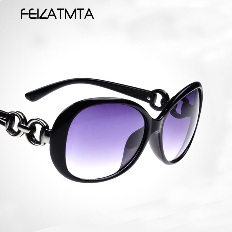 FEIZATMTA черный 2016 women metal frame sexy cat eye sunglasses coating vintage sun glasses female oculos de grau femininos uv400