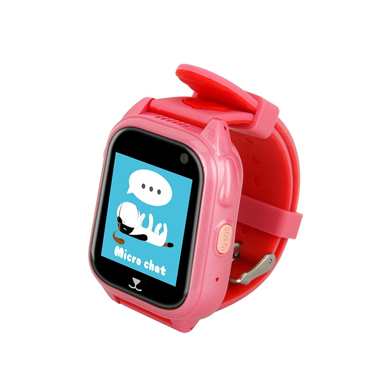 SANDN Розовый ds18 waterproof smart baby watch gps tracker for kids 2016 wifi sos anti lost location finder smartwatch for ios android pk q50