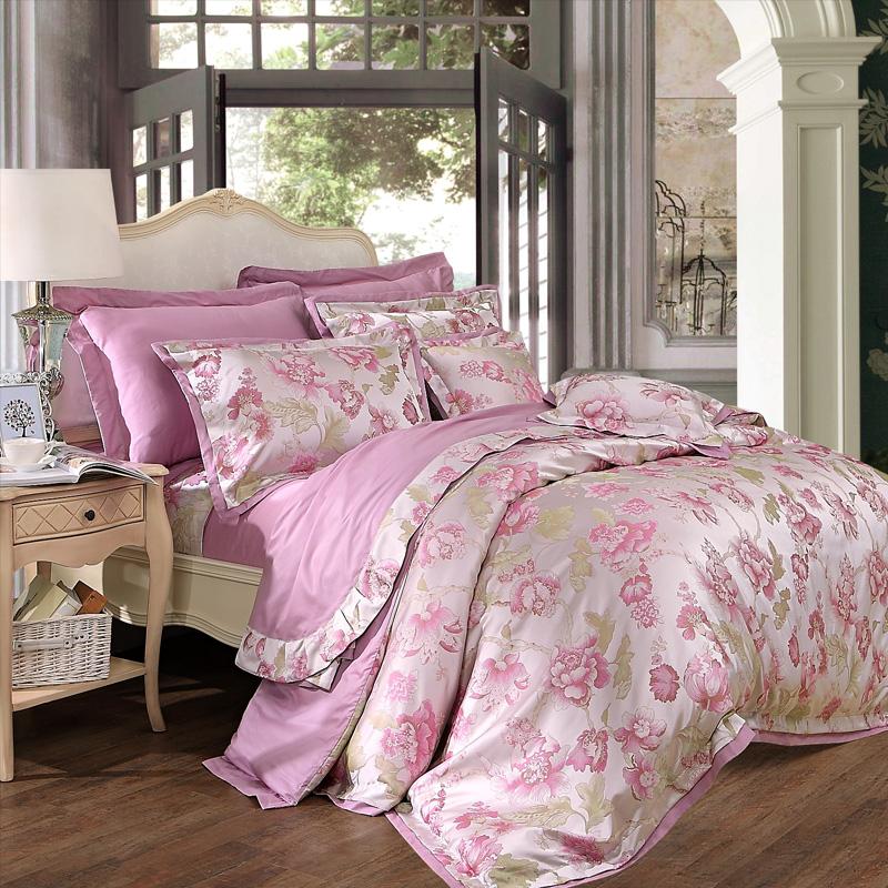 JD Коллекция фиолетовые цветы Кровать 15 м 203 229cm mercury постельные принадлежности набор 4 штуки простыня с набивной чехол на одеяло 100