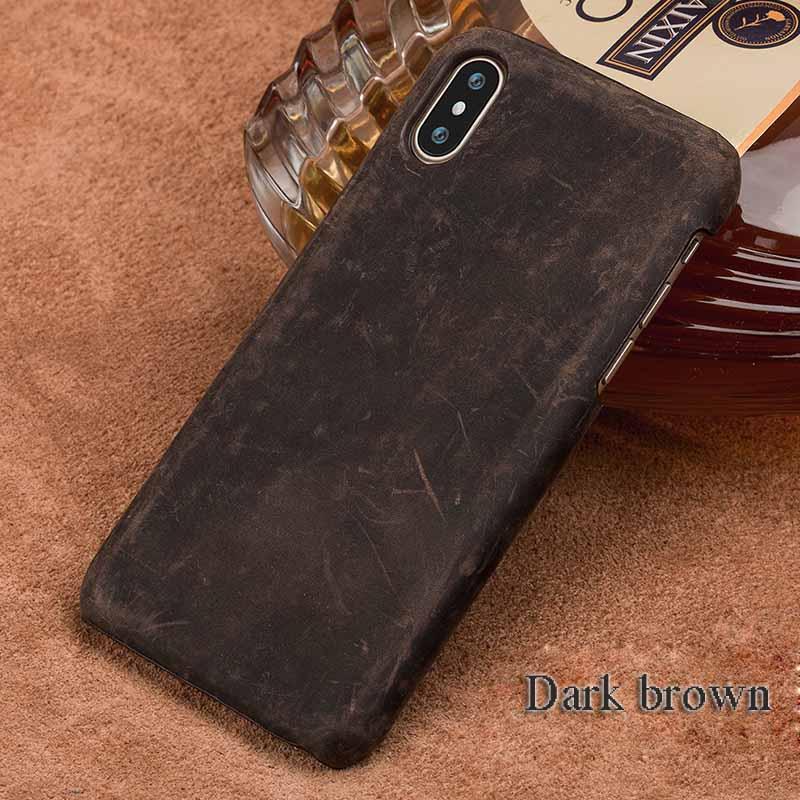 langsidi коричневый iPhone 6 6s чехол из натуральной кожи для iphone x case crazy horse leather back cover для 6 6s 7 8 plus case