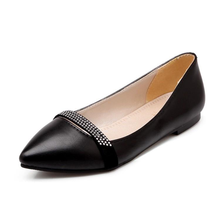EAGSITY Чёрный цвет 39 женская обувь на плоской подошве 2015