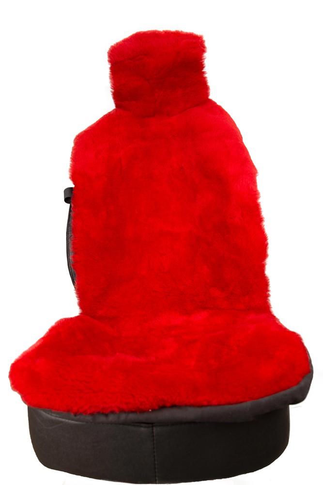 COVERS Крышка сиденья с красной шерстью Плюш 03