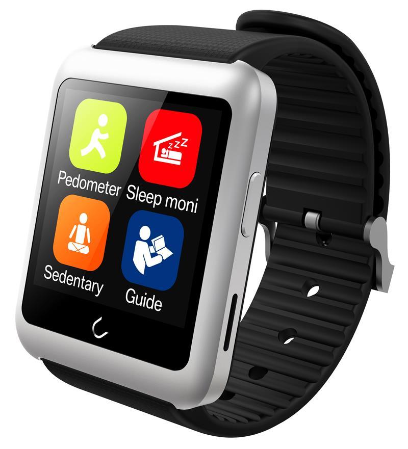 Uwatch Серебристый цвет элегантность умные часы bluetooth умные часы хороший подарок для друга мама папа сестра брат
