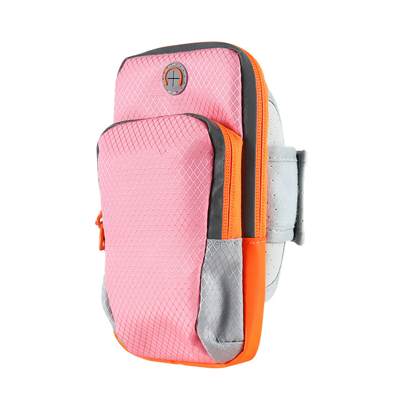 KYKEO Розовый 60&quotinch Universal double pocket mobile phone pouch arm bag with velcro strap black