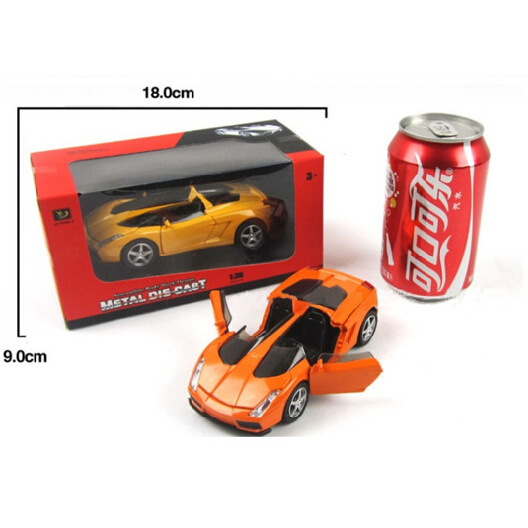 Желтый Lamborghini Gallardo Die Cast Super Car cast london