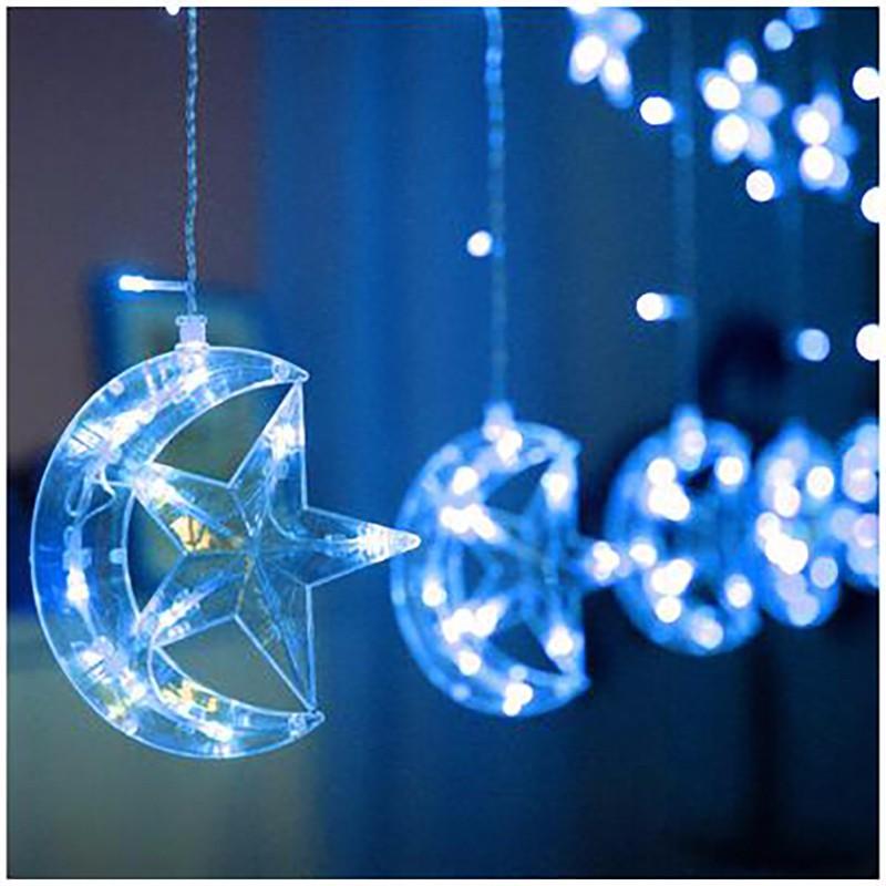 LUOMU Синий цвет 220V EU PLUG outdoor wedding christmas led bulb string light led rainbow light waterproof led string 50m 400 led ball ac 220v