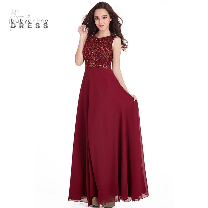 Bridesmaid одевает черное платье милые платья женщин одевает шифоновое платье малыш платье Красное вино США 14 Великобритания 18 ЕС 44 фото