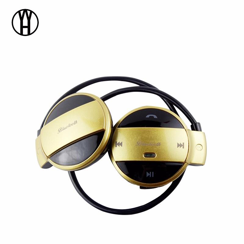 WH Золотой цвет wh mini501 bluetooth беспроводные портативные наушники спорт музыка гарнитура hd стерео наушники mic для android ios смартфон